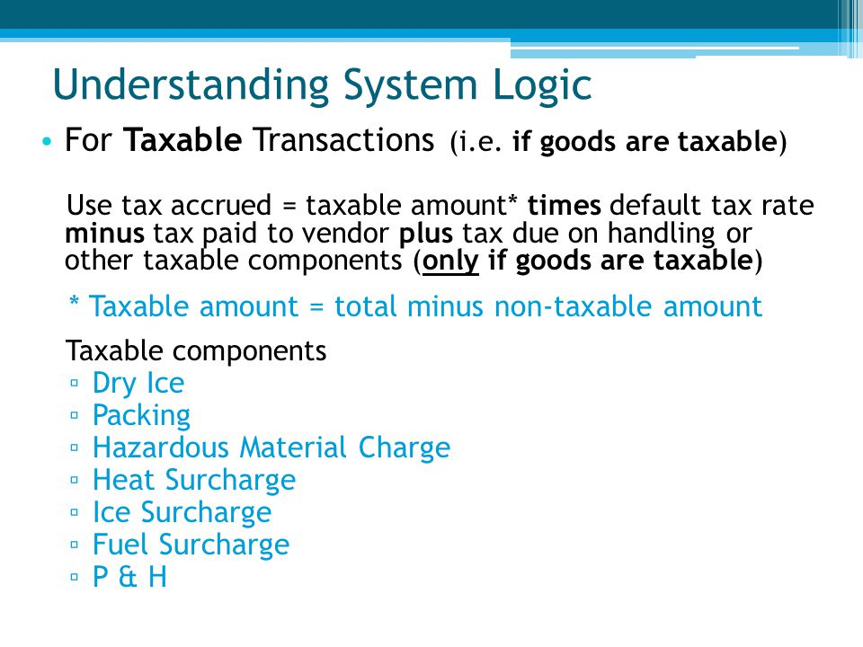 Understanding System Logic