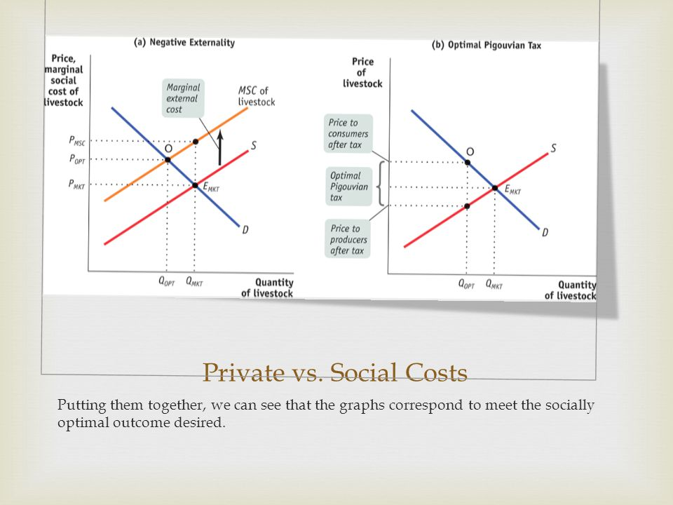 Private vs. Social Costs