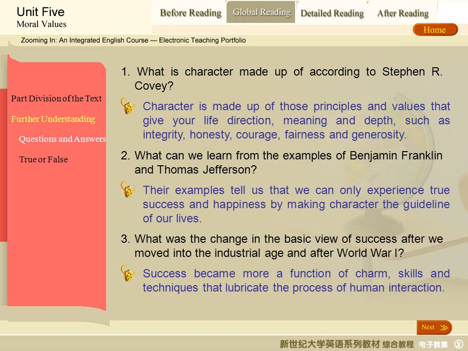 Global Reading_ Questions and answers
