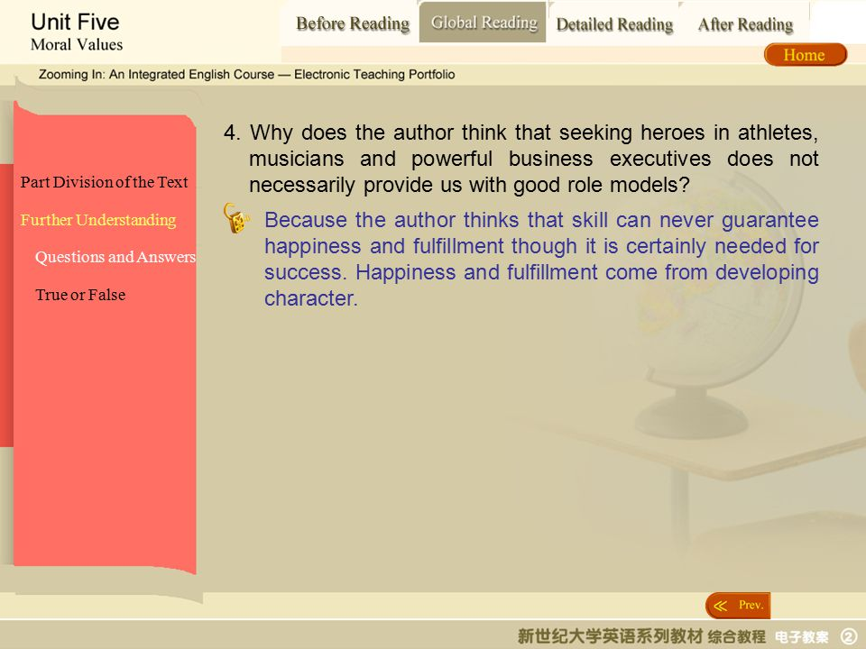 Global Reading_ Questions and answers2