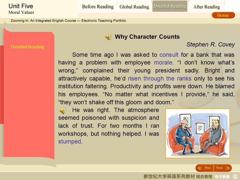 Detailed Reading_t1 Why Character Counts Stephen R. Covey