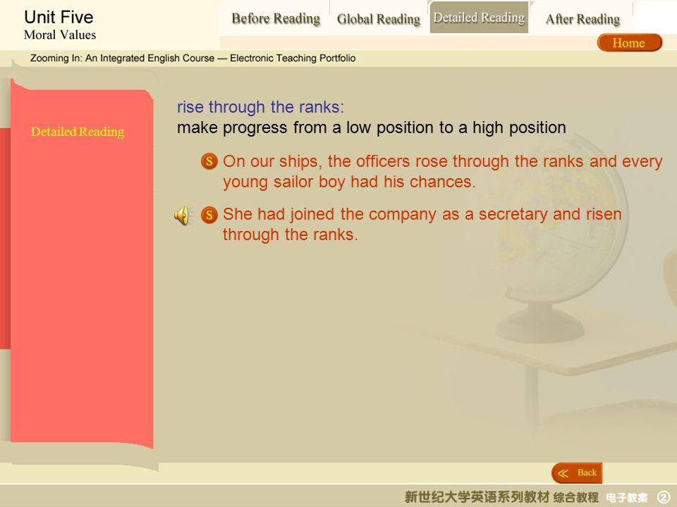 Detailed Reading_ rise through the ranks