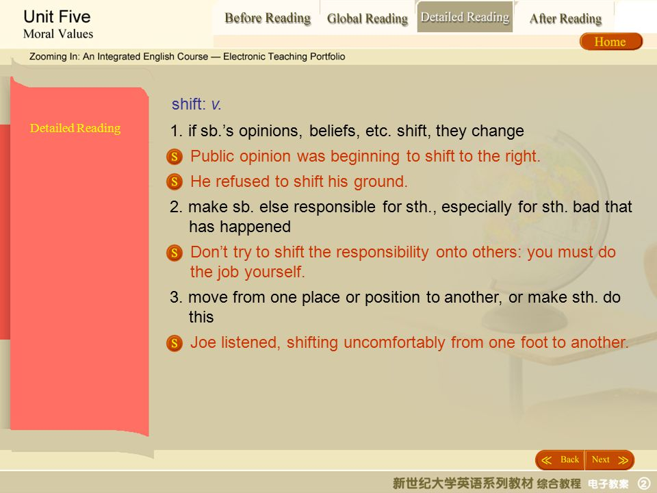 Detailed Reading_ shift