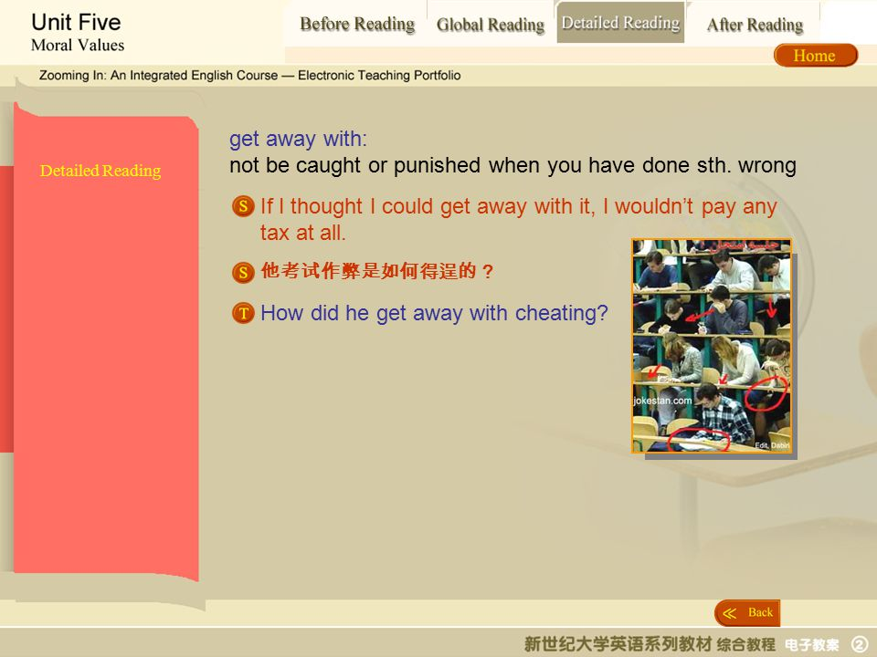 Detailed Reading_ get away with