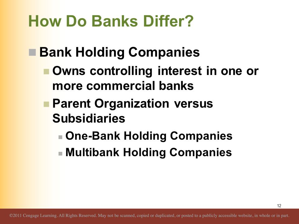 How Do Banks Differ Bank Holding Companies