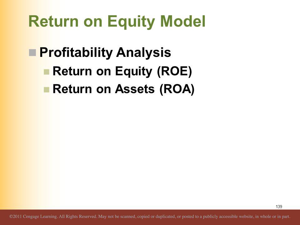 Return on Equity Model Profitability Analysis Return on Equity (ROE)