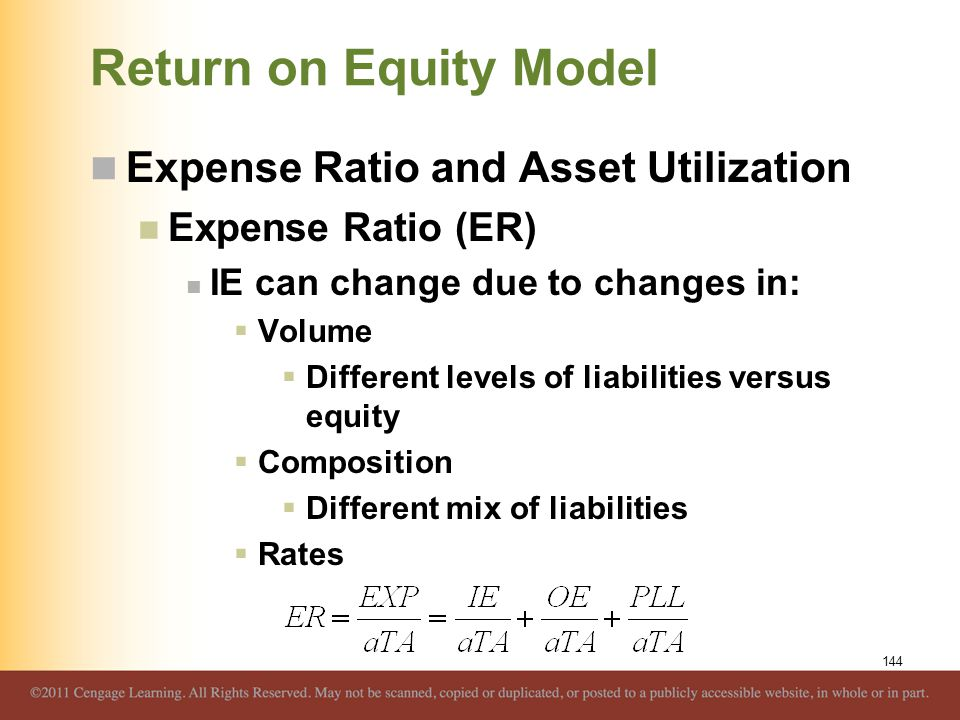 Return on Equity Model Expense Ratio and Asset Utilization