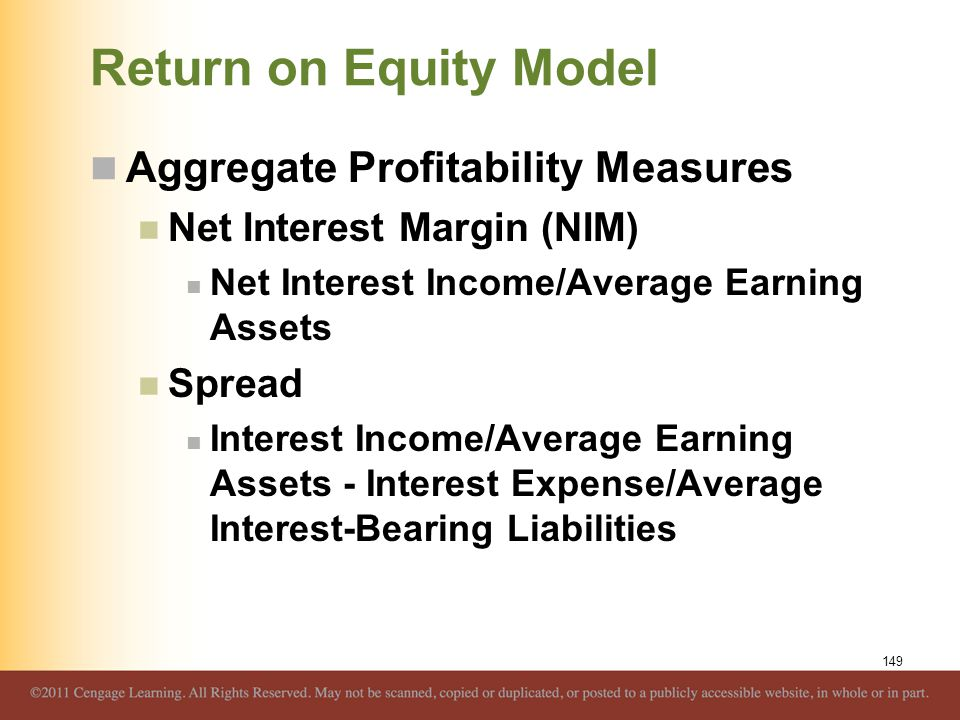 Return on Equity Model Aggregate Profitability Measures