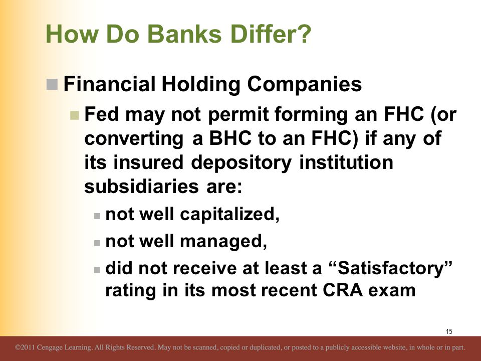 How Do Banks Differ Financial Holding Companies