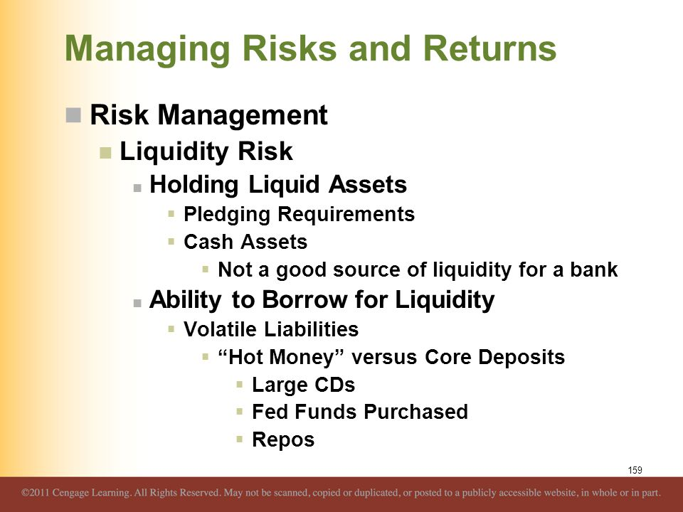 Managing Risks and Returns