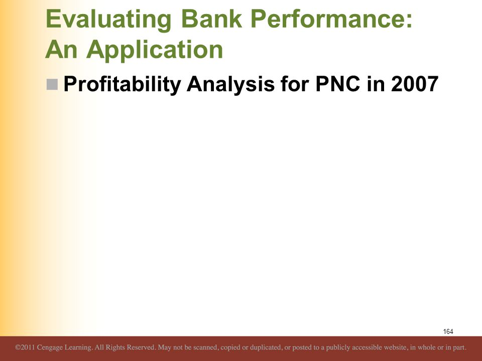 Evaluating Bank Performance: An Application