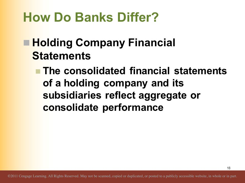 How Do Banks Differ Holding Company Financial Statements