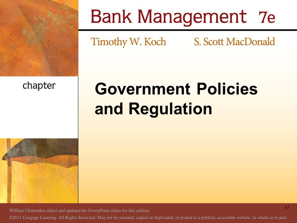 Government Policies and Regulation