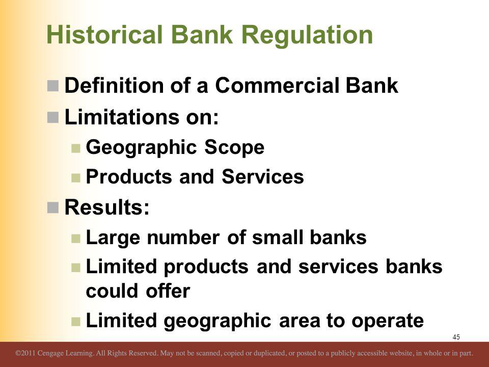 Historical Bank Regulation