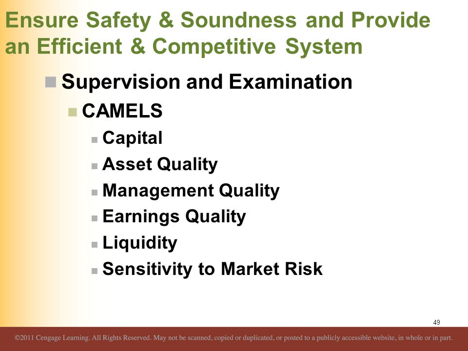 Ensure Safety & Soundness and Provide an Efficient & Competitive System