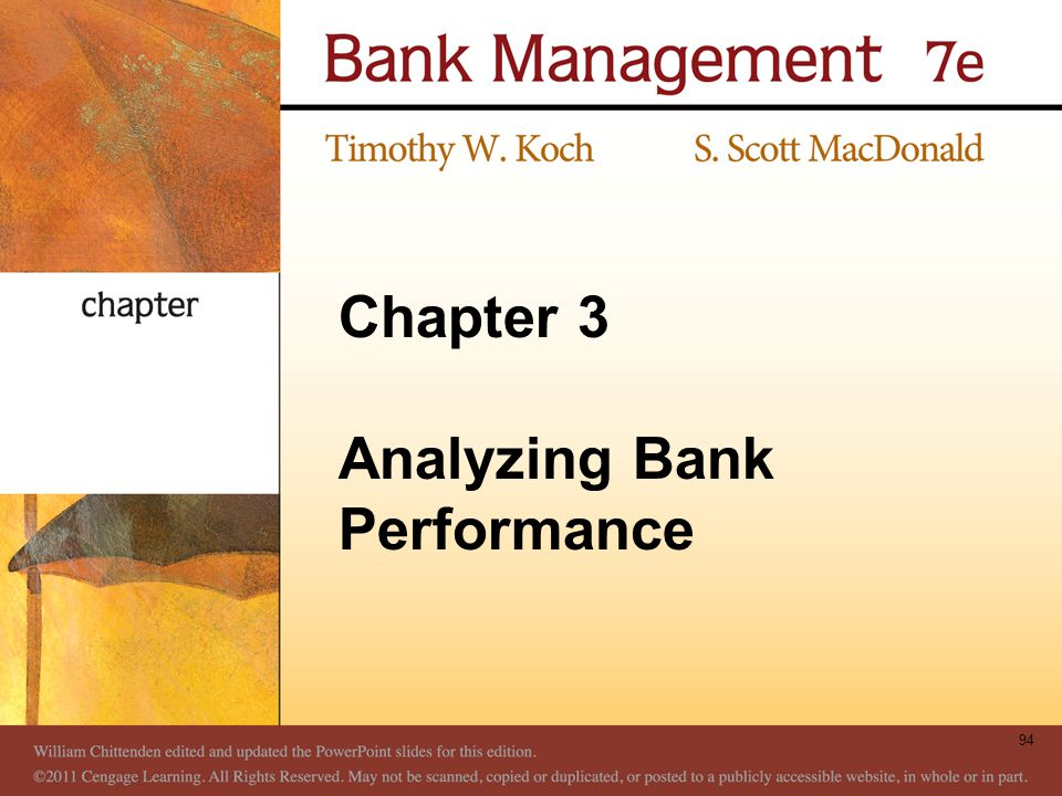 Chapter 3 Analyzing Bank Performance