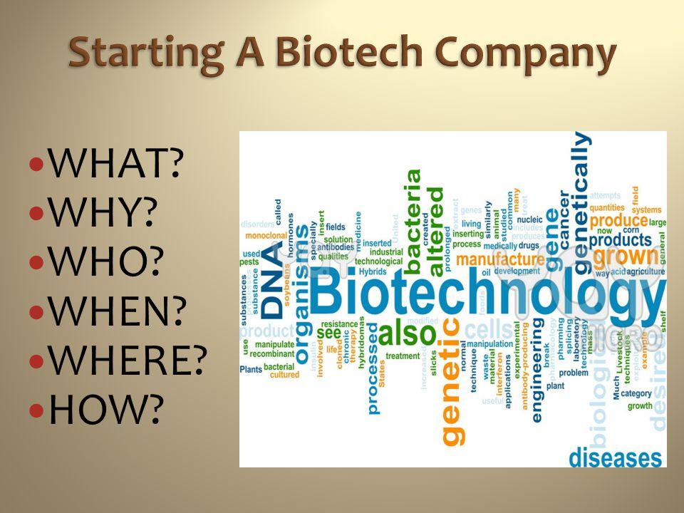 Starting A Biotech Company