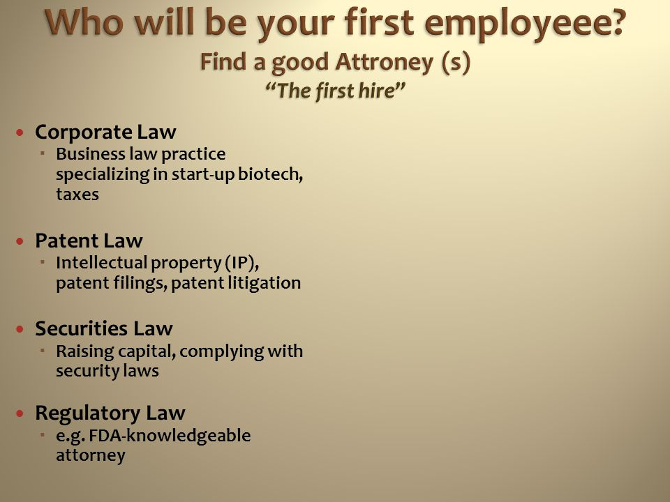 Who will be your first employeee