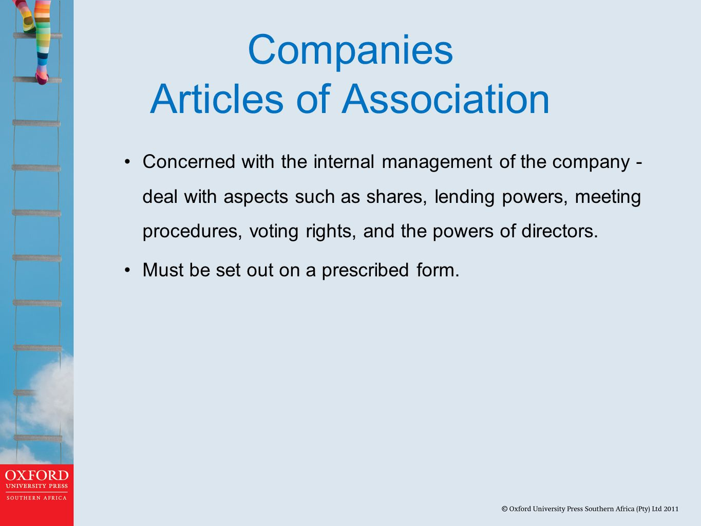 Companies Articles of Association