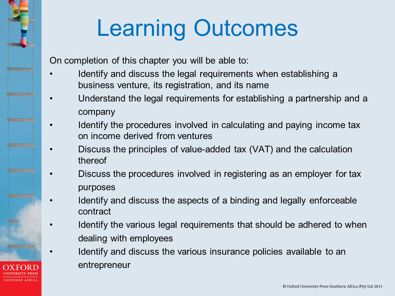 Learning Outcomes On completion of this chapter you will be able to: