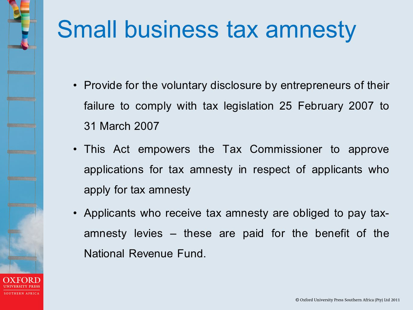 Small business tax amnesty