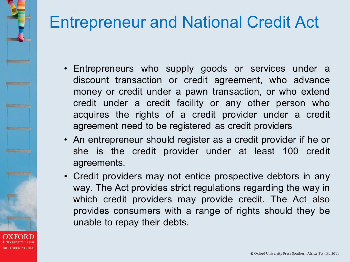 Entrepreneur and National Credit Act