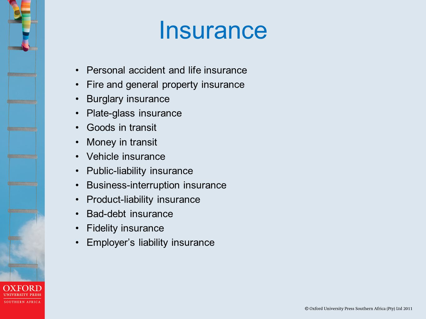 Insurance Personal accident and life insurance