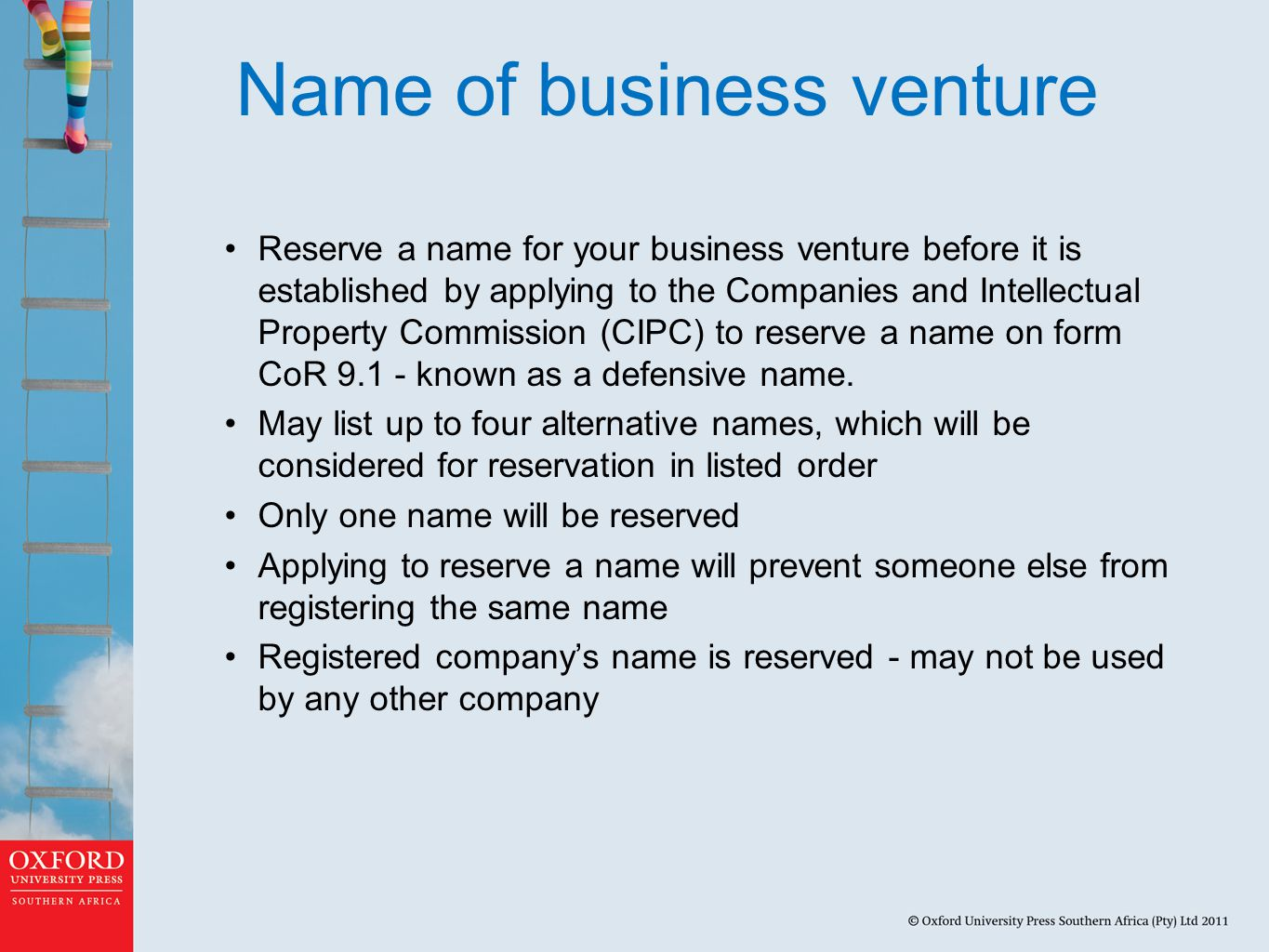 Name of business venture