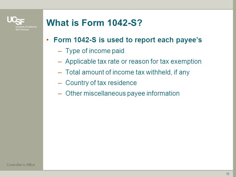 What is Form 1042-S Form 1042-S is used to report each payee's