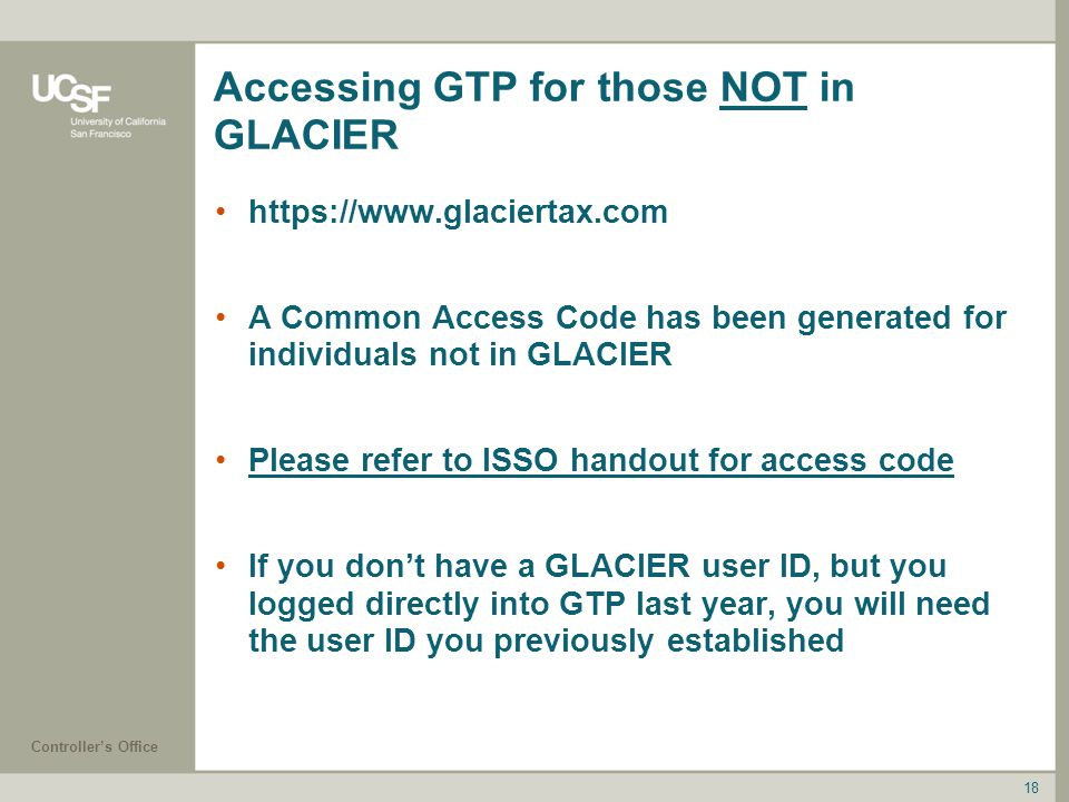 Accessing GTP for those NOT in GLACIER