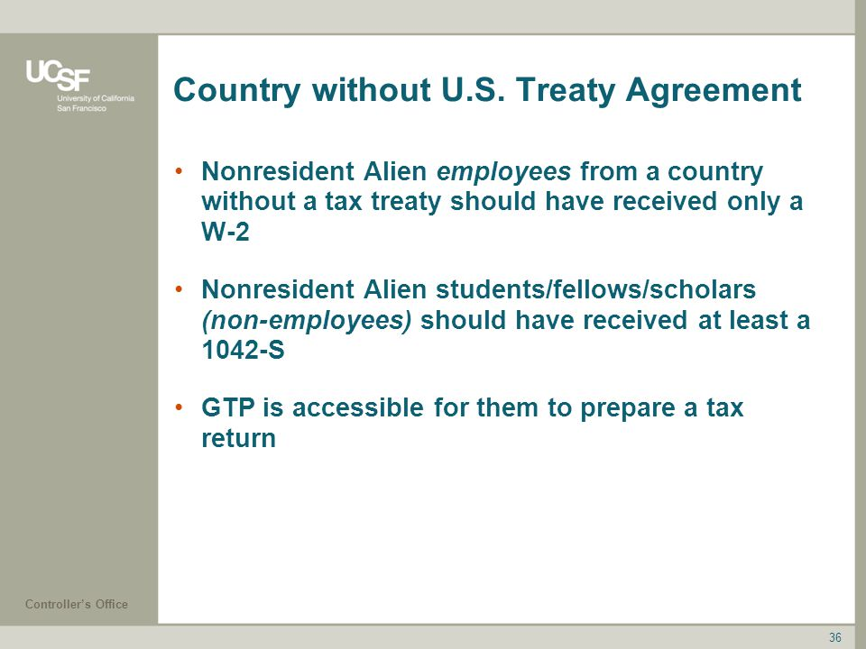 Country without U.S. Treaty Agreement
