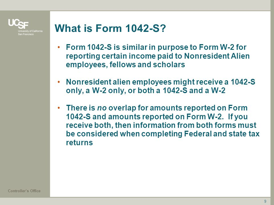 What is Form 1042-S