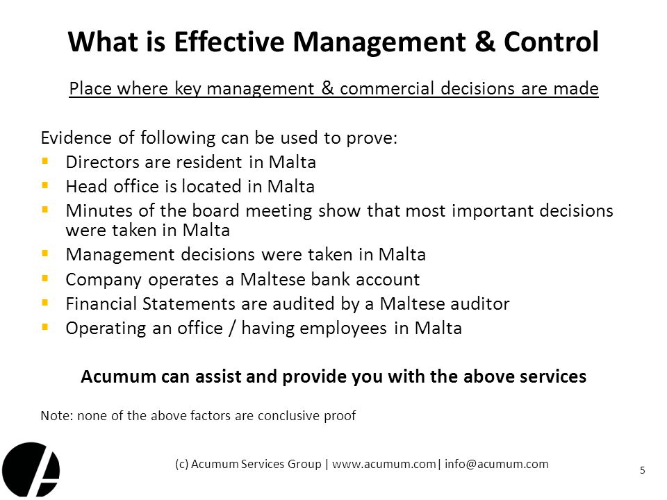 What is Effective Management & Control