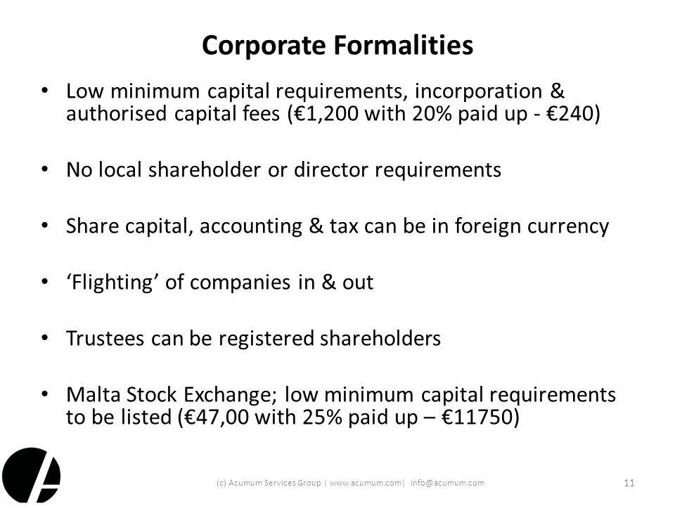 Corporate Formalities