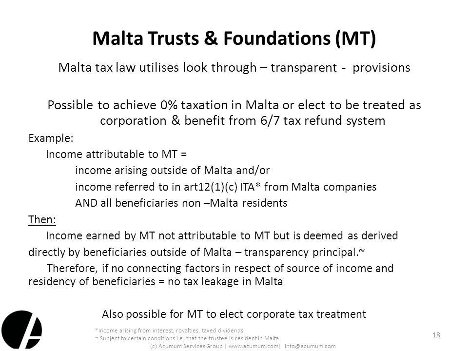 Malta Trusts & Foundations (MT)