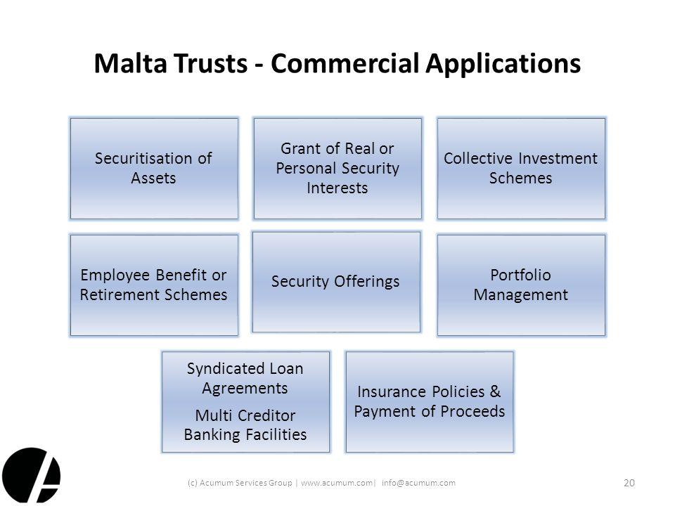 Malta Trusts - Commercial Applications