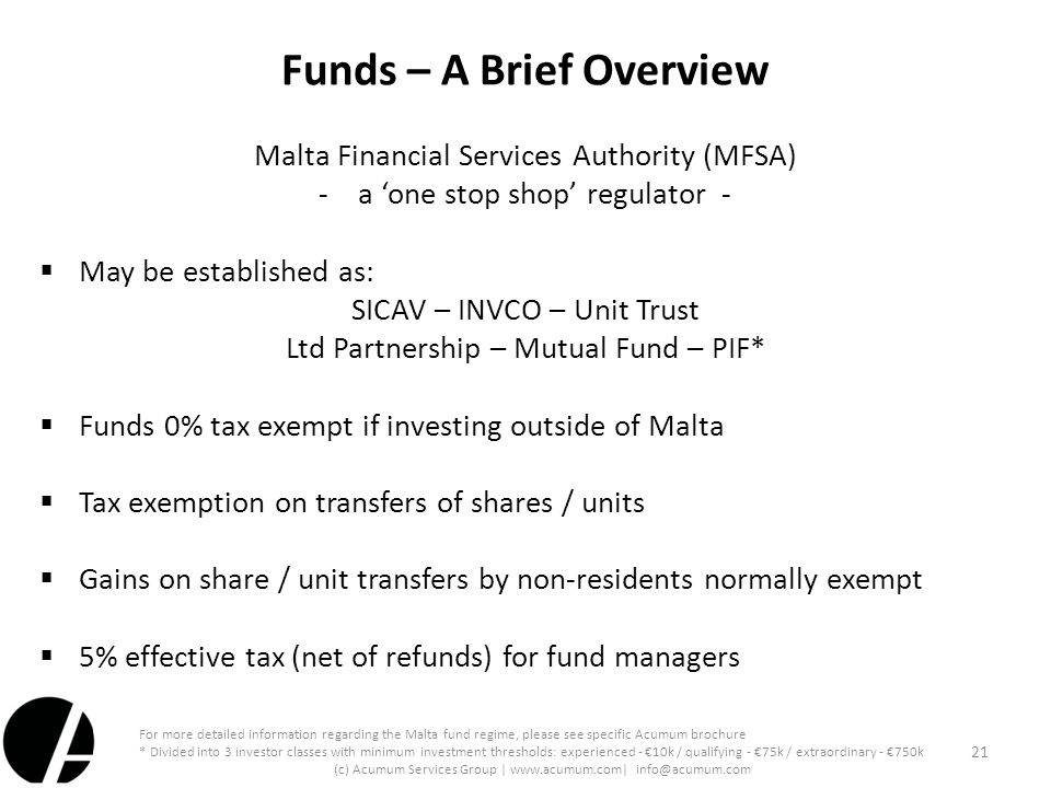 Funds – A Brief Overview