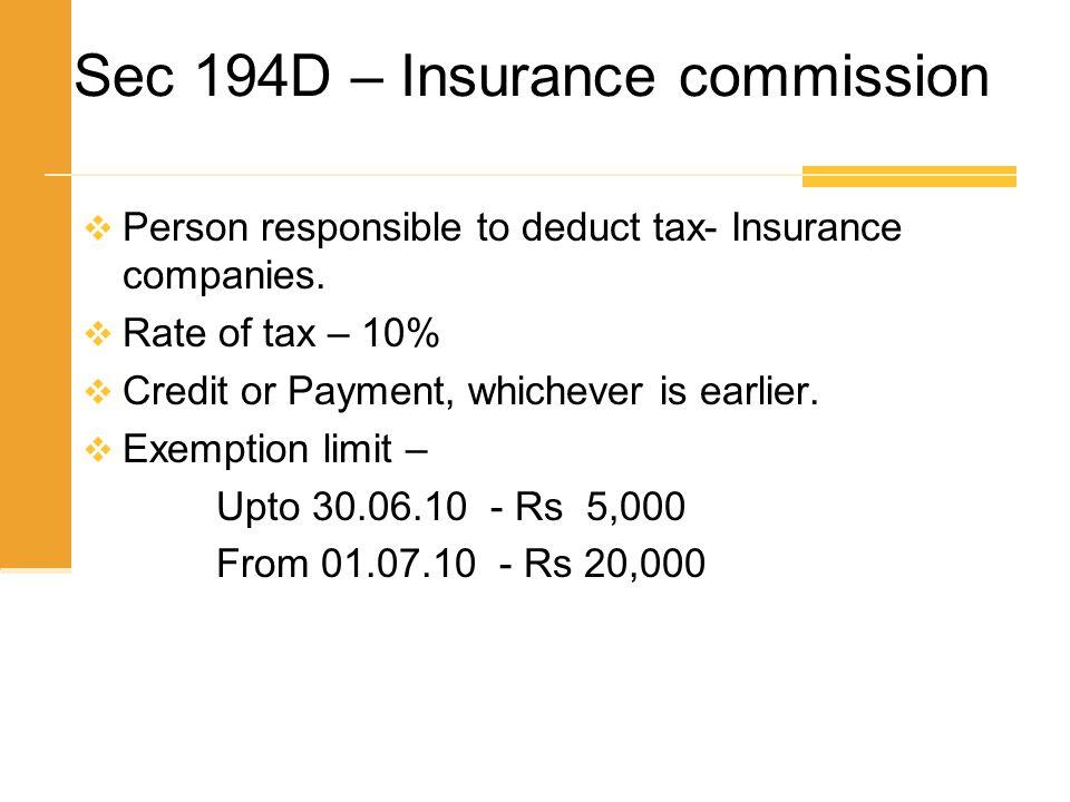 Sec 194D – Insurance commission