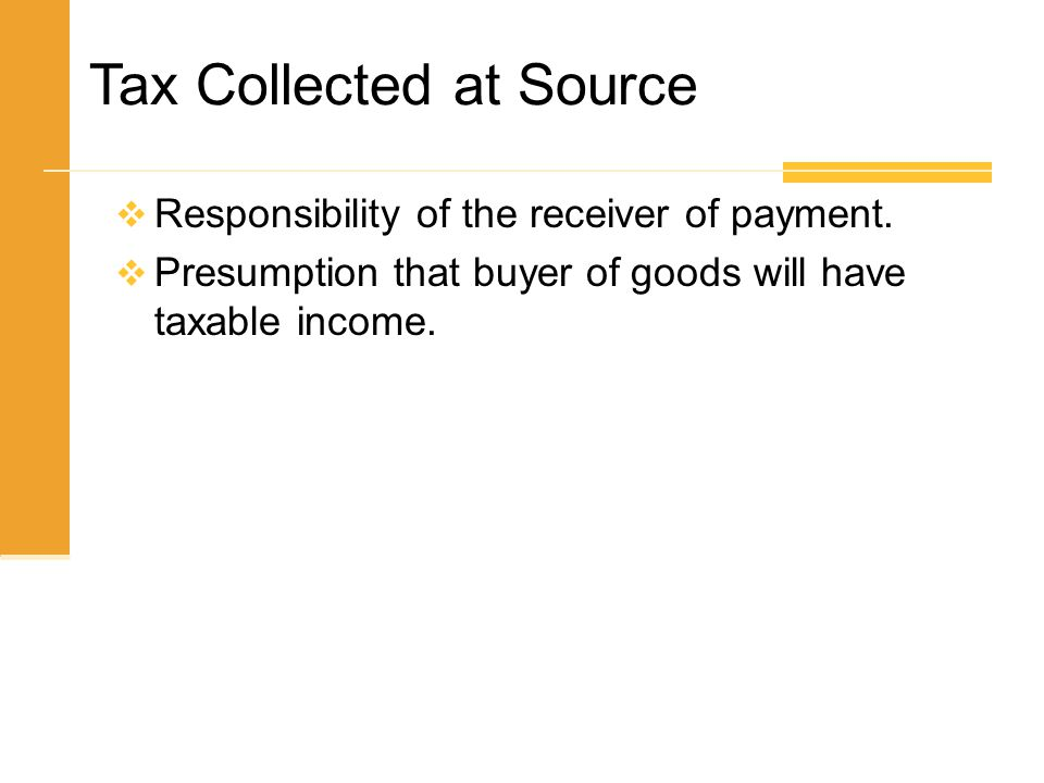 Tax Collected at Source