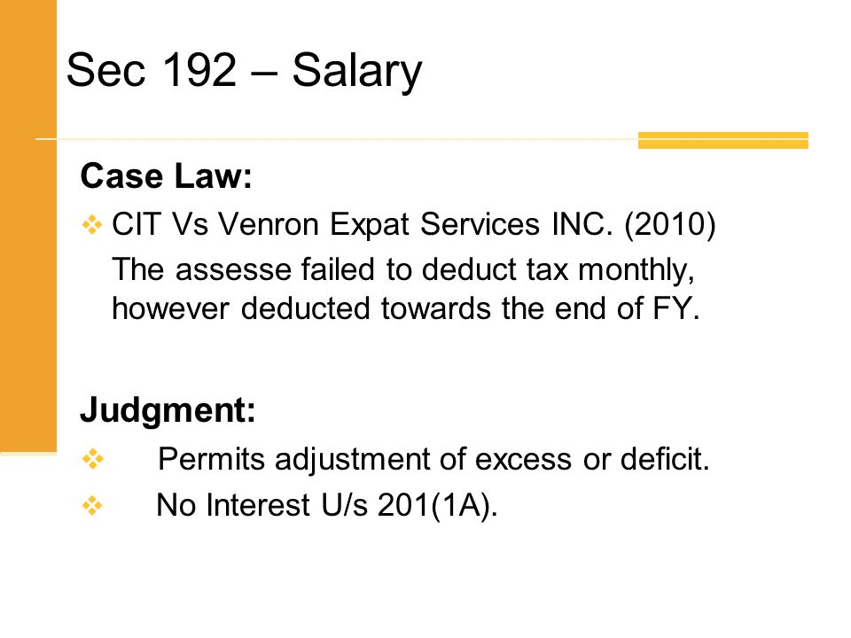 Sec 192 – Salary Case Law: Judgment: