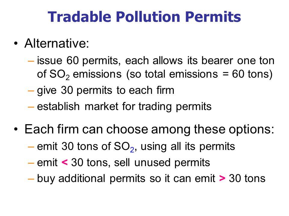 Tradable Pollution Permits