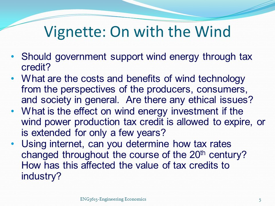 Vignette: On with the Wind