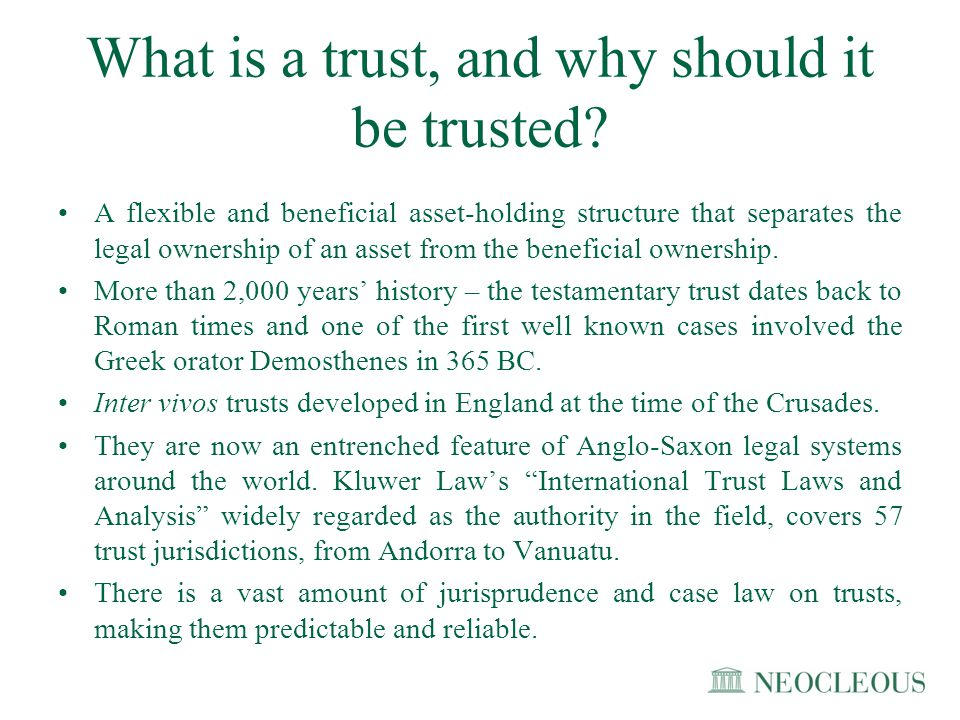 What is a trust, and why should it be trusted