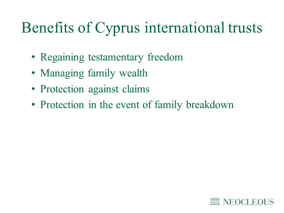 Benefits of Cyprus international trusts