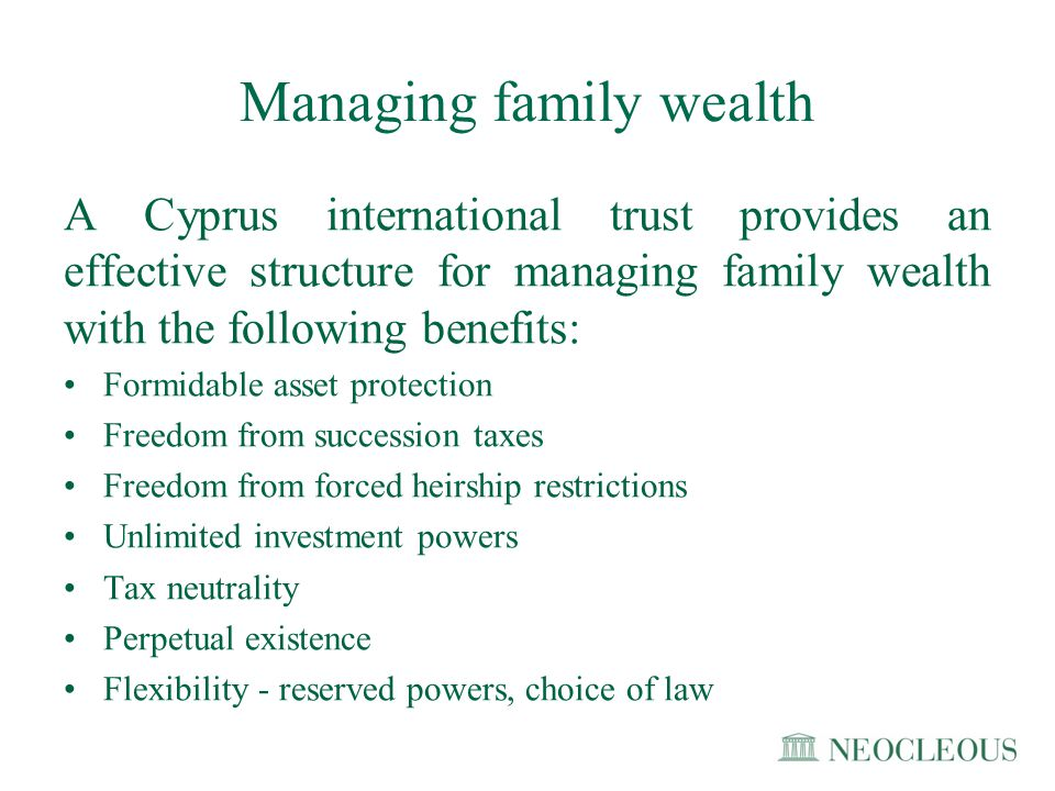 Managing family wealth