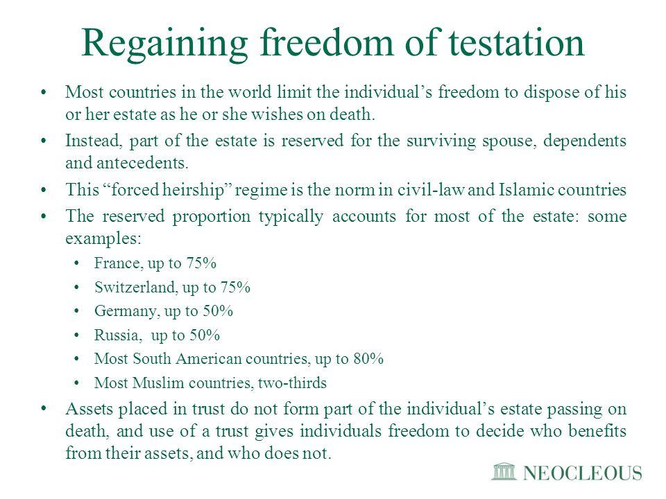 Regaining freedom of testation