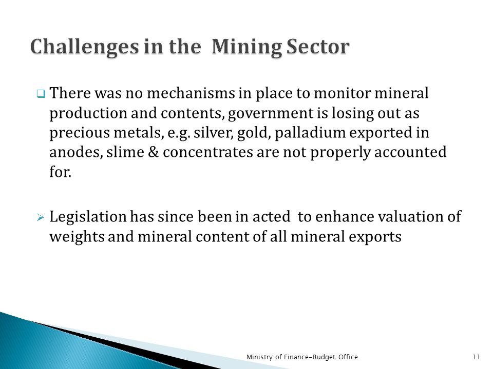 Challenges in the Mining Sector