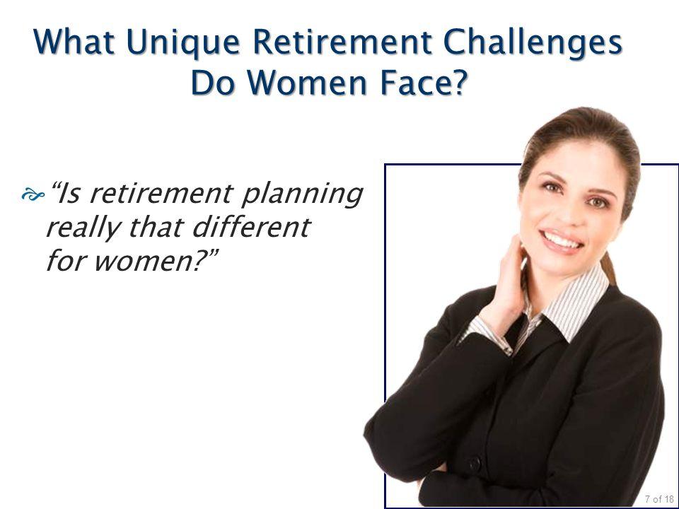 What Unique Retirement Challenges Do Women Face