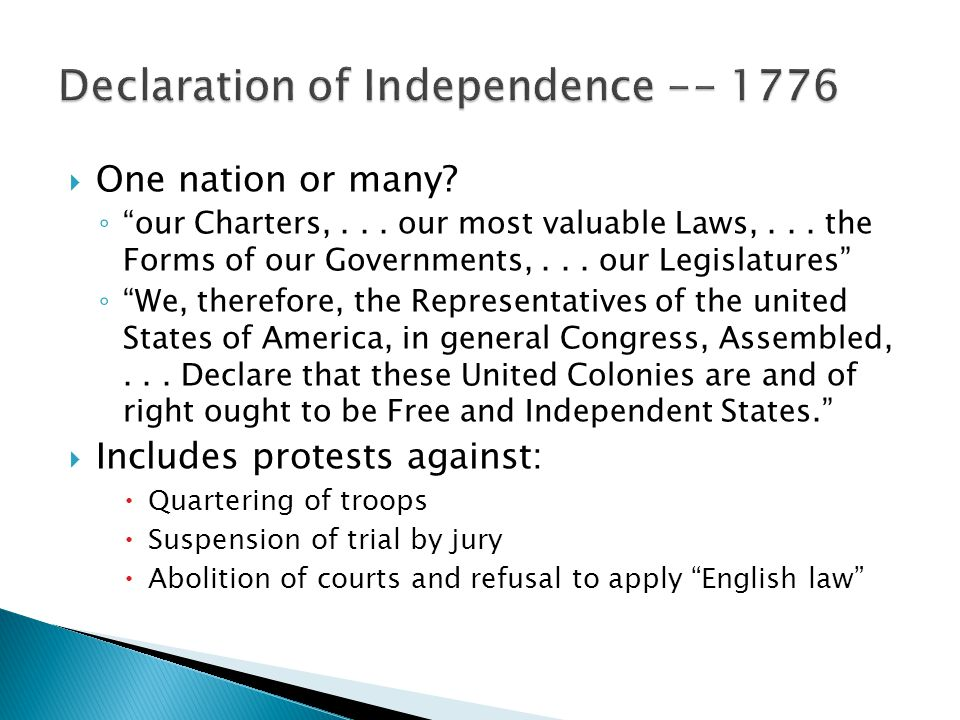 Declaration of Independence -- 1776
