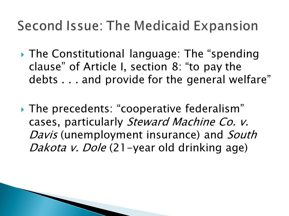 Second Issue: The Medicaid Expansion